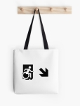 Accessible Exit Sign Project Wheelchair Wheelie Running Man Symbol Means of Egress Icon Disability Emergency Evacuation Fire Safety Tote Bag 150