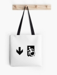 Accessible Exit Sign Project Wheelchair Wheelie Running Man Symbol Means of Egress Icon Disability Emergency Evacuation Fire Safety Tote Bag 160