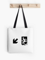 Accessible Exit Sign Project Wheelchair Wheelie Running Man Symbol Means of Egress Icon Disability Emergency Evacuation Fire Safety Tote Bag 164