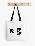 Accessible Exit Sign Project Wheelchair Wheelie Running Man Symbol Means of Egress Icon Disability Emergency Evacuation Fire Safety Tote Bag 165