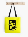 Accessible Exit Sign Project Wheelchair Wheelie Running Man Symbol Means of Egress Icon Disability Emergency Evacuation Fire Safety Tote Bag 1