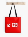 Accessible Exit Sign Project Wheelchair Wheelie Running Man Symbol Means of Egress Icon Disability Emergency Evacuation Fire Safety Tote Bag 21