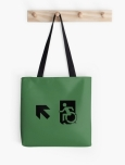 Accessible Exit Sign Project Wheelchair Wheelie Running Man Symbol Means of Egress Icon Disability Emergency Evacuation Fire Safety Tote Bag 27