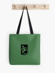 Accessible Exit Sign Project Wheelchair Wheelie Running Man Symbol Means of Egress Icon Disability Emergency Evacuation Fire Safety Tote Bag 33