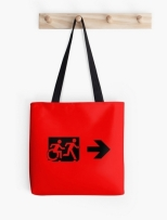 Accessible Exit Sign Project Wheelchair Wheelie Running Man Symbol Means of Egress Icon Disability Emergency Evacuation Fire Safety Tote Bag 35