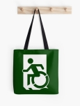 Accessible Exit Sign Project Wheelchair Wheelie Running Man Symbol Means of Egress Icon Disability Emergency Evacuation Fire Safety Tote Bag 56