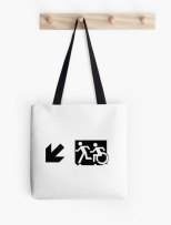 Accessible Exit Sign Project Wheelchair Wheelie Running Man Symbol Means of Egress Icon Disability Emergency Evacuation Fire Safety Tote Bag 60