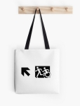 Accessible Exit Sign Project Wheelchair Wheelie Running Man Symbol Means of Egress Icon Disability Emergency Evacuation Fire Safety Tote Bag 61