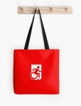 Accessible Exit Sign Project Wheelchair Wheelie Running Man Symbol Means of Egress Icon Disability Emergency Evacuation Fire Safety Tote Bag 64