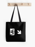 Accessible Exit Sign Project Wheelchair Wheelie Running Man Symbol Means of Egress Icon Disability Emergency Evacuation Fire Safety Tote Bag 69