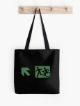 Accessible Exit Sign Project Wheelchair Wheelie Running Man Symbol Means of Egress Icon Disability Emergency Evacuation Fire Safety Tote Bag 79