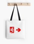 Accessible Exit Sign Project Wheelchair Wheelie Running Man Symbol Means of Egress Icon Disability Emergency Evacuation Fire Safety Tote Bag 83