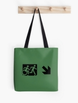 Accessible Exit Sign Project Wheelchair Wheelie Running Man Symbol Means of Egress Icon Disability Emergency Evacuation Fire Safety Tote Bag 86