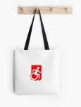 Accessible Exit Sign Project Wheelchair Wheelie Running Man Symbol Means of Egress Icon Disability Emergency Evacuation Fire Safety Tote Bag 90
