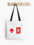 Accessible Exit Sign Project Wheelchair Wheelie Running Man Symbol Means of Egress Icon Disability Emergency Evacuation Fire Safety Tote Bag 91