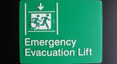 Accessible Exit Sign Project Emergency Evacuation Lift