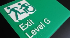 Accessible Exit Sign Project Exit Door Sign