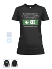 Accessible Exit Sign Project Ladies T-Shirt