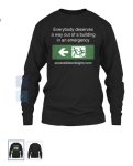 Accessible Exit Sign Project Long Sleeve T-Shirt