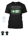Accessible Exit Sign Project T-Shirt 1