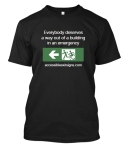 Accessible Exit Sign Project T-Shirt