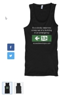 Accessible Exit Sign Project Tanktop Singlet