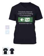 Accessible Exit Sign Project V Neck T-Shirt