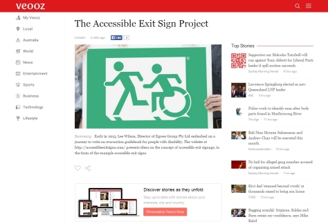 Accessible Exit Sign Project on Veooz