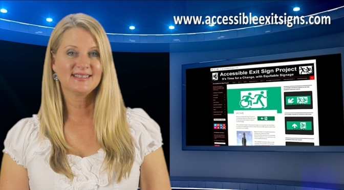 The Accessible Exit Sign Project promotional video