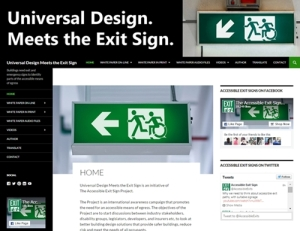 Universal Design Meets the Exit Sign Website Screen Image