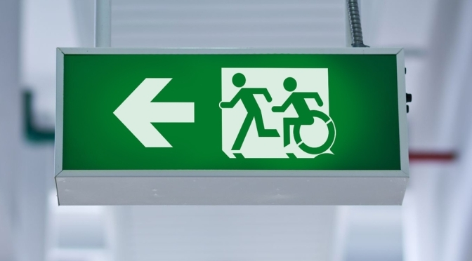 Universal Design Meets the Exit Sign Accessible Means of Egress Icon
