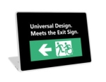 Universal Design Meets the Exit Sign Laptop Skin