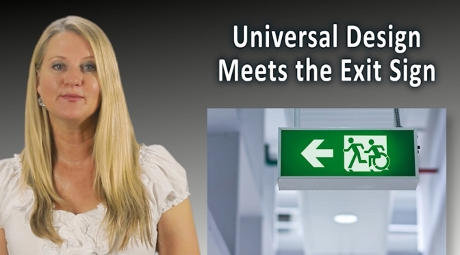 Universal Design Meets the Exit Sign Promotional Video screen shot