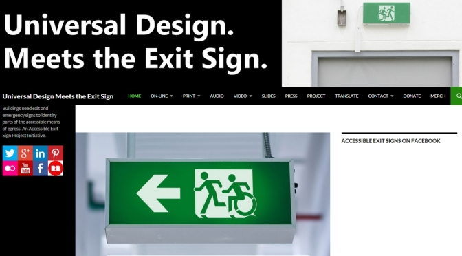 Universal Design Meets the Exit Sign Official Launch
